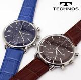 【TECHNOS】 テクノス クロノグラフ メンズウォッチ T6397