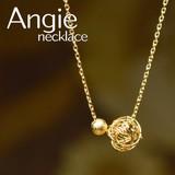 NEW【Angie】鞠細工 ボール ショート ゴールド ネックレス!シンプル&フェミニン!