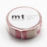 KAMOI Washi Tape 1P Mix Red Washi Tape