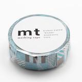 KAMOI Washi Tape 1P Mix Blue Washi Tape