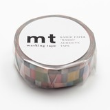 KAMOI Washi Tape 1P Mosaic Gray Washi Tape