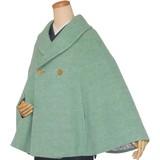 着物コート【メランジツイード ショールカラーポンチョ】和装ケープ レディース 高級