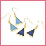 Gift Show Denim Triangle Pierced Earring
