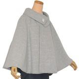 着物コート【ウールニット ロールカラーポンチョ】和装ケープ ロール衿 レディース 高級