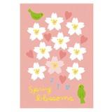 春柄イラストポストカード