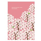 春柄イラストポストカード(樹脂盛り)
