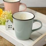 【特価品】Broche 11.5cmマグカップ 水色[B品][日本製/美濃焼/洋食器]