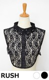 Hand Maid Embroidery Glitter Attached Lace Material Fashion Detachable Collar