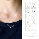 【選べる11デザイン】デザイン華奢ネックレス 重ね付け 細身 繊細 ゴールド