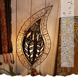 ペイズリーモチーフがモダンで上品な雰囲気に【ペイズリー壁掛けランプ】アジアン雑貨