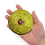 <和雑貨・和土産>本物そっくり!?日本の硬貨モチーフグッズ 豪華巨大五円札 ゴールド No.303-342