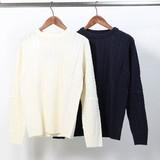 【SALE セール】 メンズ ケーブル編み ニット / セーター ジャガード 長袖 カットソー フィッシャーマン