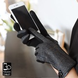 ◆裏起毛スマホグローブ/手袋/ミトン/スマフォ/iphone/スマホ用/起毛/フェイクレザー◆425498