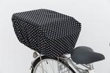 【日本製】自転車後ろかごカバー ドット柄