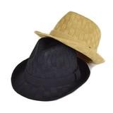 【春夏新作】バケット編サーモ中折 ヤング帽子