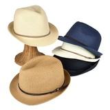 【春夏新作】ボタン付スウェード巻ペーパー中折 ヤング帽子