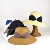 【春夏新作】ストーン付リボンペーパーキャペリン レディース帽子