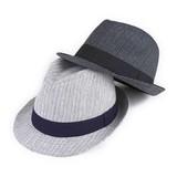 【春夏新作】ランダムストライプハイバック中折 ヤング帽子