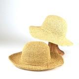 【春夏新作】コマ編みペーパーキャペリン レディース帽子