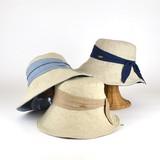 【春夏新作】リネンMIXドレープキャペリン レディース帽子
