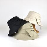 【春夏新作】ウォッシュドリボンキャペリン レディース帽子