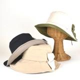 【春夏新作】ダンガリーリボンキャペリン レディース帽子