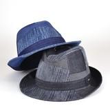 【春夏新作】Rubenデニムパッチワーク中折 ヤング帽子