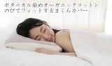ボタニカルオーガニックコットン のびてフィットする枕カバー