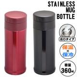 ステンレス製真空二重マグボトル 0.36L ABS-360