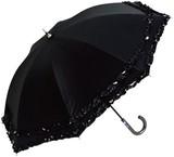 ●UVカット率99%●晴雨兼用ダブルフリル