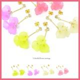 【ギフトショー春2017】お花モチーフ3個のピアスA