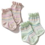 Multi Light Border Socks Socks