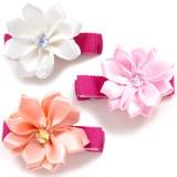【Bijoux&Bee】サテンリボン花のヘアクリップ<日本製>
