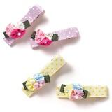 【Bijoux&Bee】小さなグログラン花のヘアクリップ<日本製>