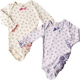 Frill Dot Floret Rompers