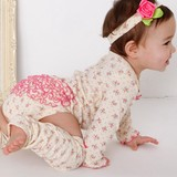 Dot Floret Frill Rompers