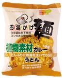 お湯かけ麺植物素材カレーうどん  81G