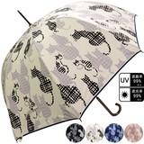 ★2017【春夏新作】雨傘★雨晴兼用 ねこ柄ジャンプ傘♪UV99%カット