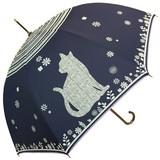 【1月入荷 先行予約5%OFF】★2017【春夏新作】雨傘★雨晴兼用 ビックねこ柄ジャンプ傘♪