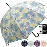 ★2017【春夏新作】雨傘★雨晴兼用 花柄ジャンプ傘♪UV99%カット