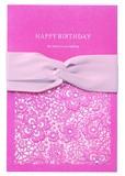 Lace Ribbon Card Pink
