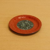 ブロンズ/青銅 リムプレート (中皿) S