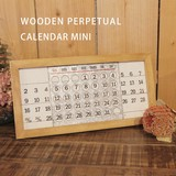 万年カレンダー【WOODEN PERPETUAL CALENDAR MINI】ウッデン パーペチュアル カレンダー ミニ