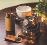 お部屋の消臭に!■常滑焼【茶香炉】山房黒ネコ茶香炉