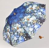 【6月21日から30日まで10%分引きセール!】【折りたたみ傘】ルノワール ホワイトフラワー
