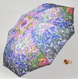 【3月21日から31日まで10%分引きセール!】【折りたたみ傘】モネ スプリングガーデン