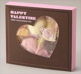 バレンタインハートチョコボックス(ハートチョコ5粒入り) / バレンタイン ギフト ノベルティ