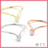 Gift Show Heart Cubic Line Ring Size 11