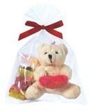 バレンタインベアマスコット(ハートチョコ5粒入り) / バレンタイン チョコレート ギフト