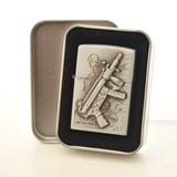 シンプルデザイン ピストルオイルライター たばこ タバコ ジッポ 喫煙